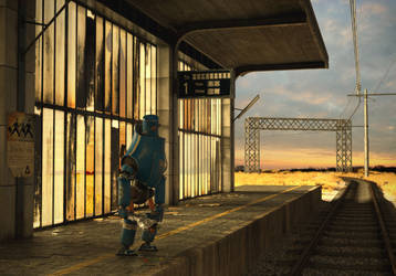 Waiting for the last train by OneTwoThreeSquare