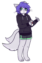 edgy furry about to drink some cofefefvef by viixens