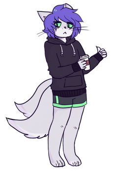 edgy furry about to drink some cofefefvef