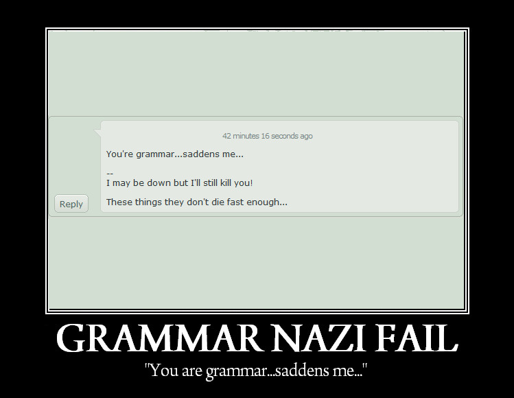 Grammar Fail LOL by OrotheEchidna