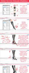 How To Fix Weird Heeled Models by KamaNoTenshi