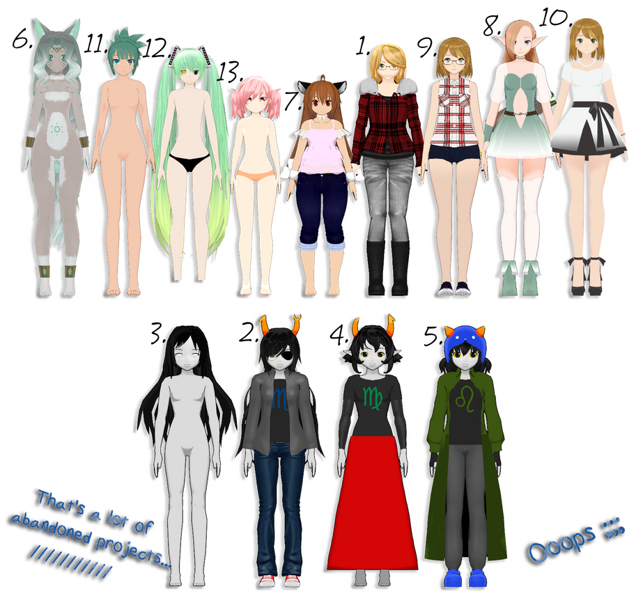 [MMD] The Lost Files: All These Damn Models lol by KamaNoTenshi
