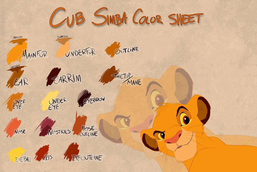 Takadk 256 17 Cub Simba Color Sheet By Takadk
