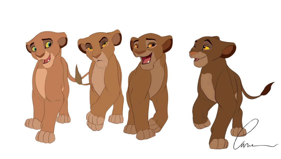 Sarabi and her siblings by Takadk