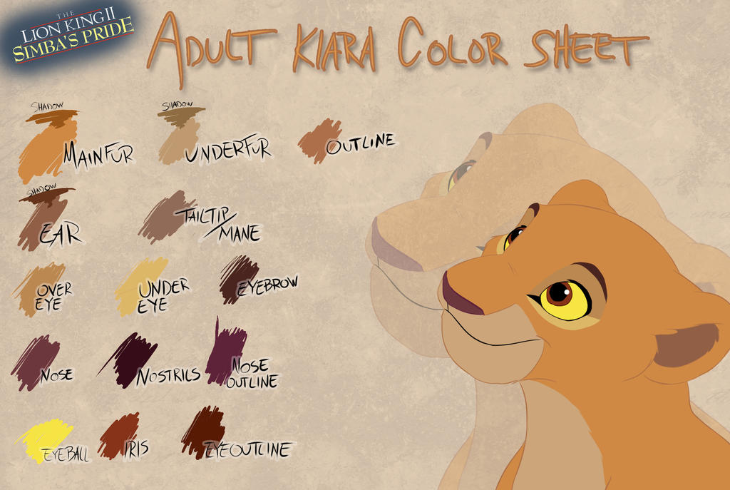 Adult Kiara color sheet by Takadk