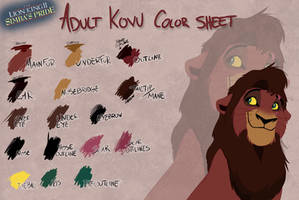 Adult Kovu color sheet