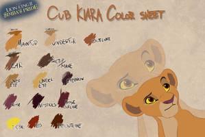 Cub Kiara color sheet