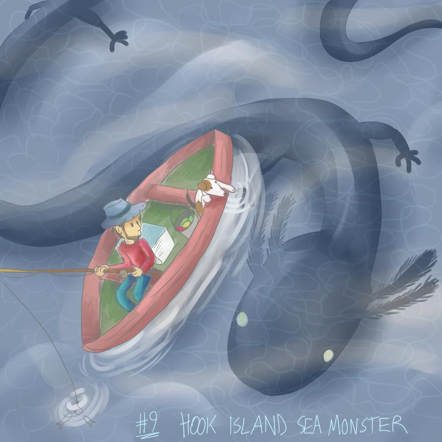 Hook Island Sea Monster by eternalsaturn