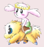 Flabebe and Joltik by eternalsaturn