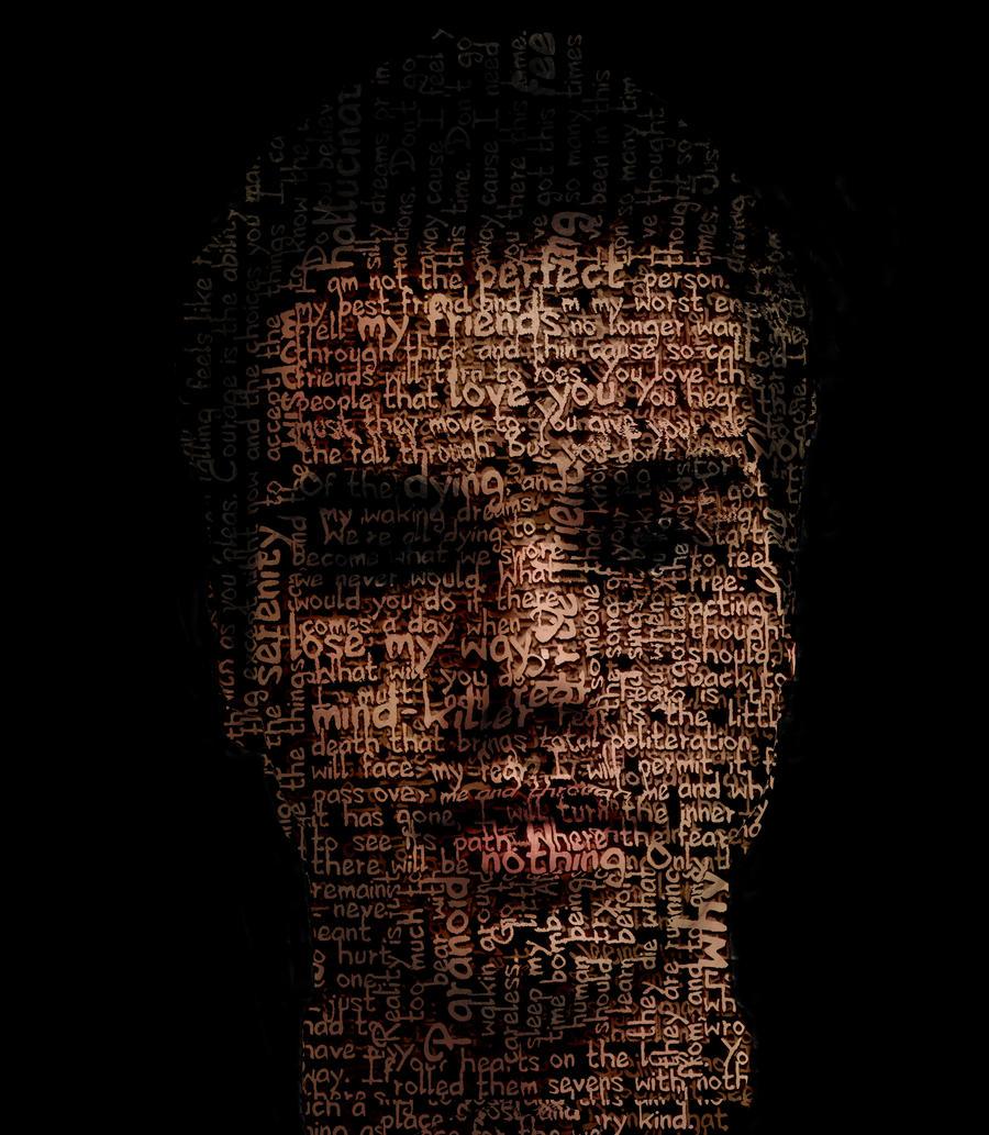 typography portrait by talkingbear177 on deviantart