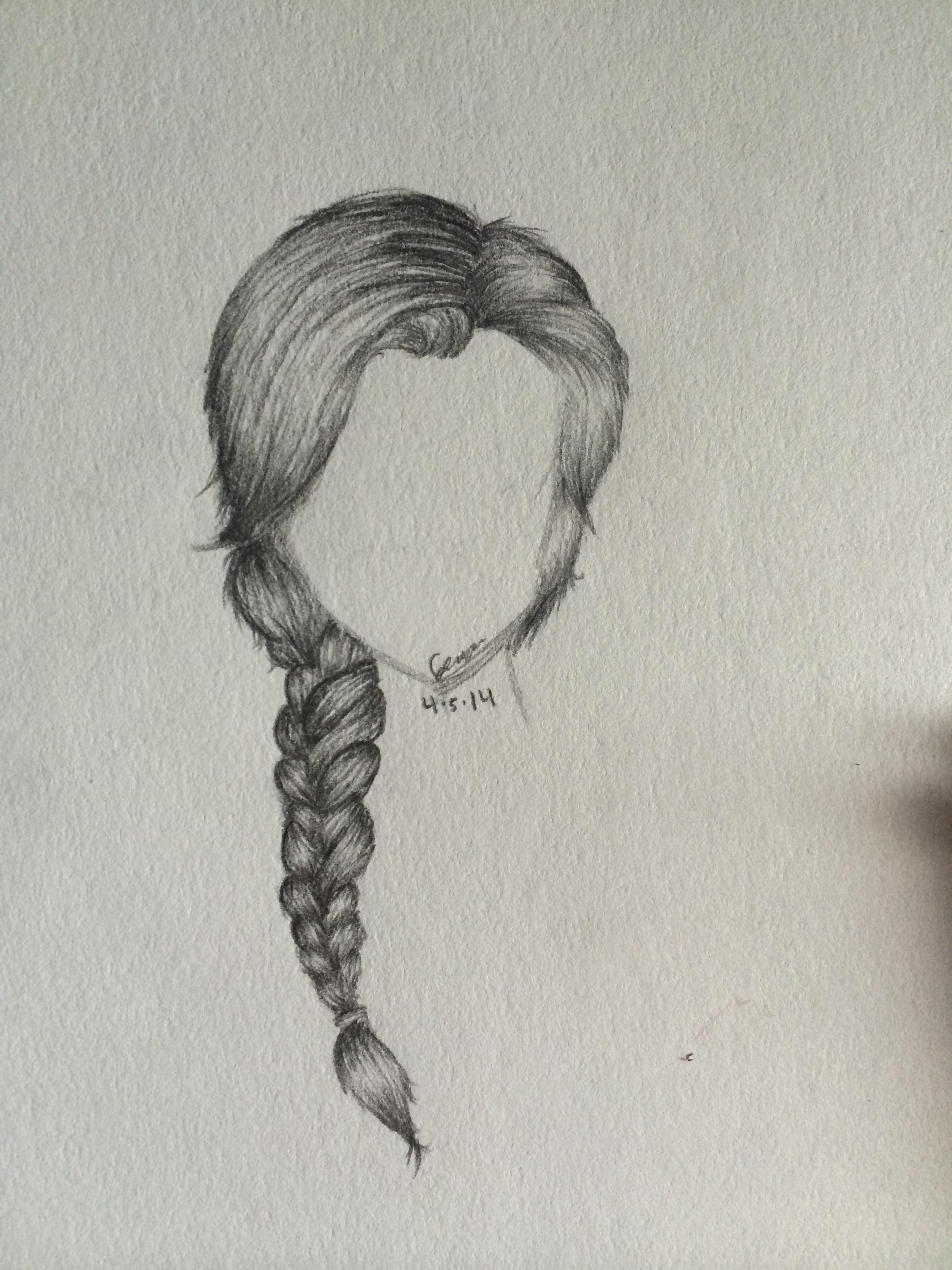Side Braid sketch by MinnieMochi on DeviantArt