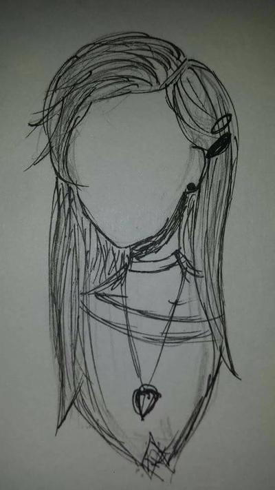 Hair sketch #1 by Takis-sama