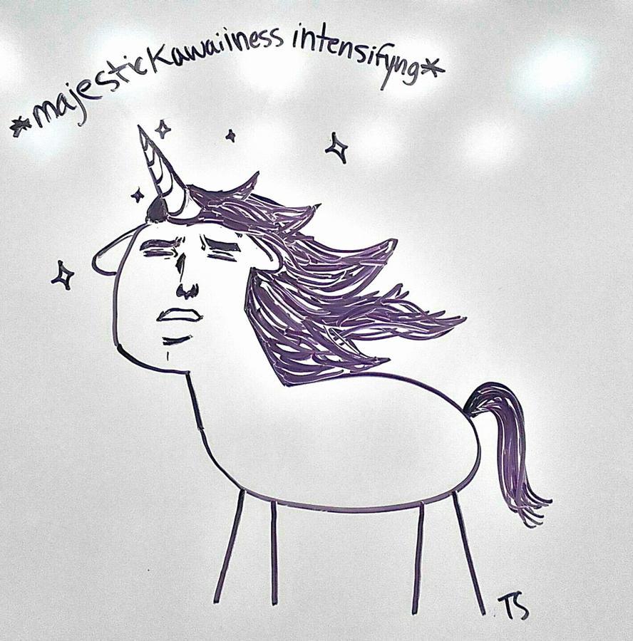 Whiteboard Doodles #1 ...unicorn? by Takis-sama