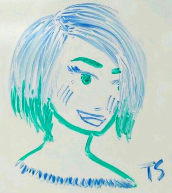 Whiteboard Doodle #5 Colorgirl by Takis-sama