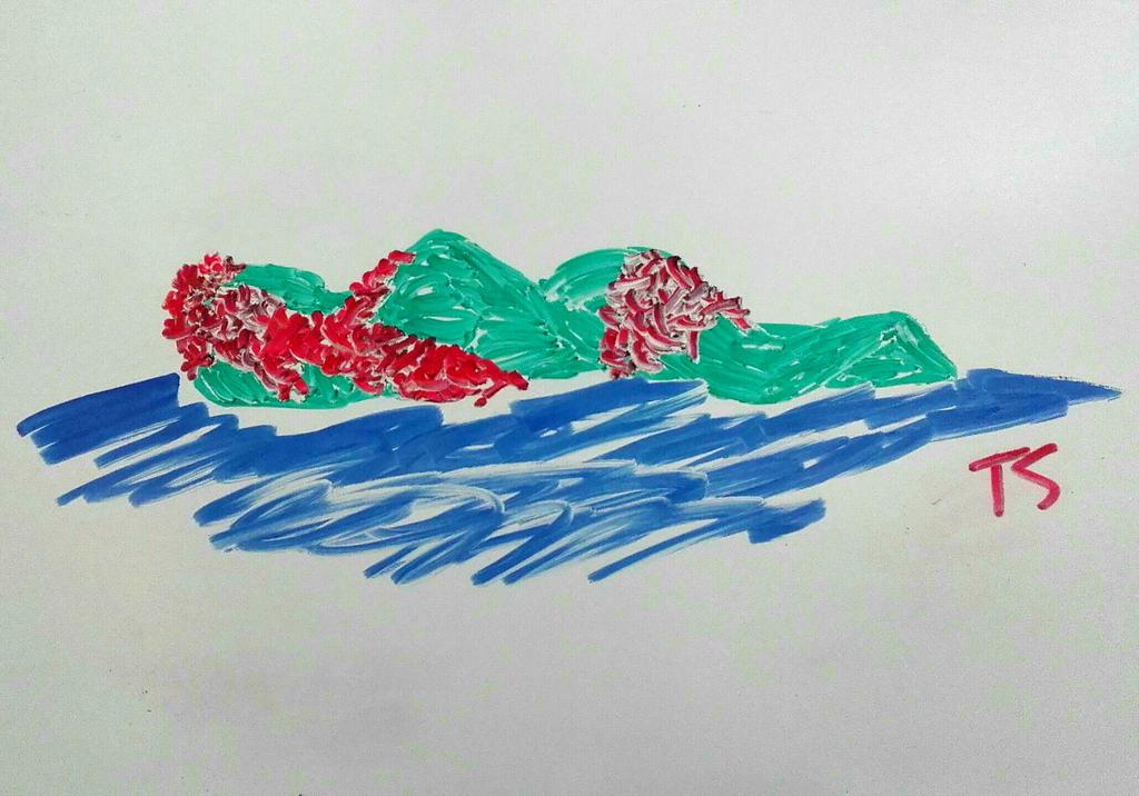Whiteboard Doodle #6 Island by Takis-sama