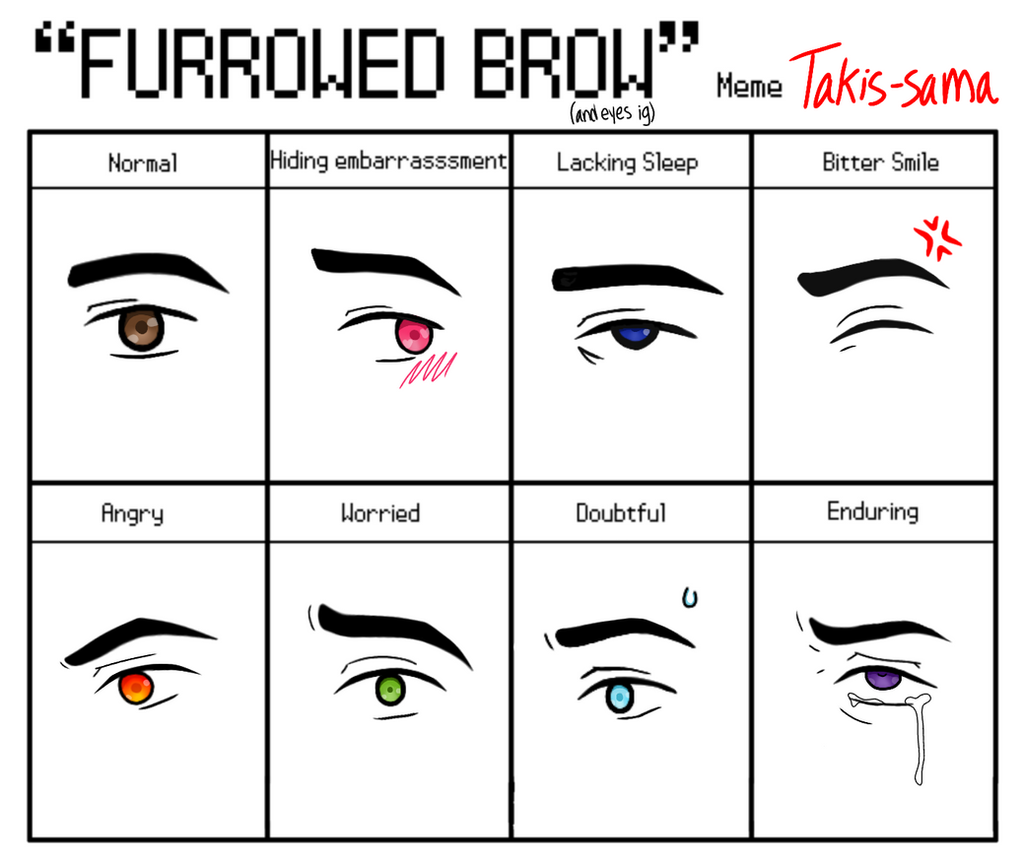 Furrowed Brow meme by Takis-sama