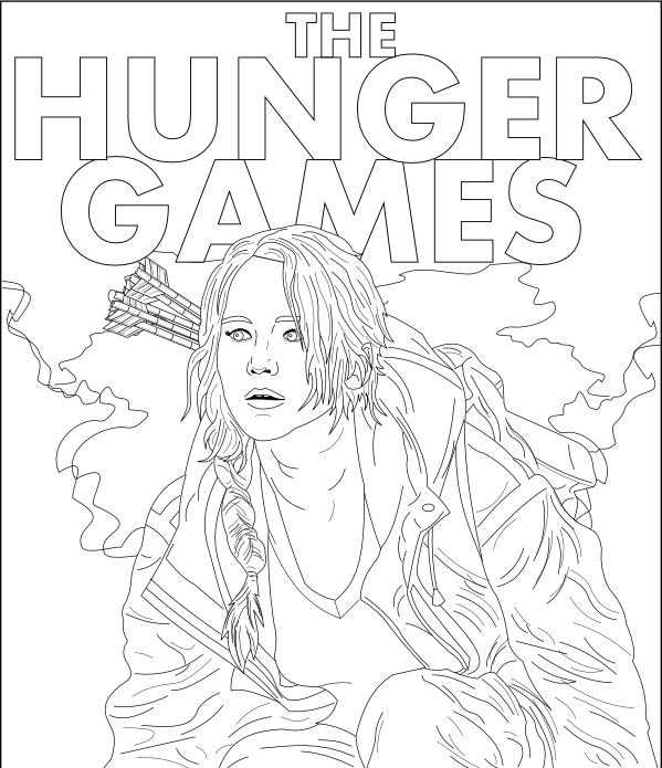 hunger games printable coloring pages | THG Katniss by adsta on DeviantArt