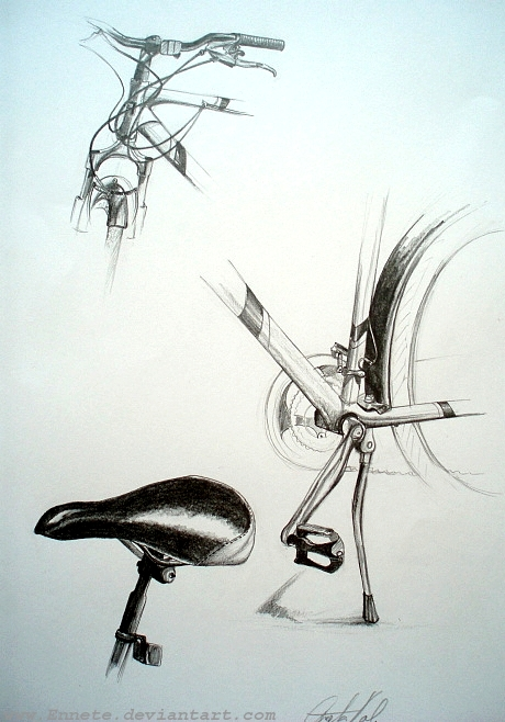Drawing Bicycle Parts By Ennete On Deviantart