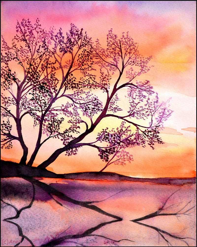 Painting- Landscape IV. by Ennete