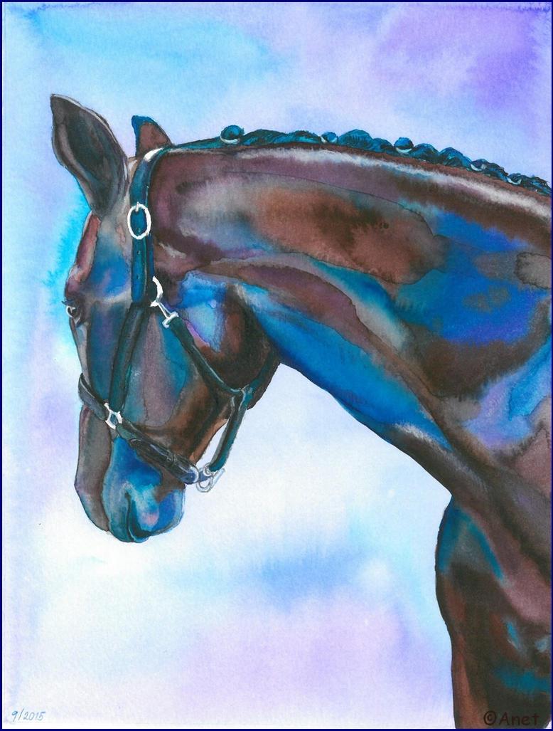 Painting- Horse portrait by Ennete