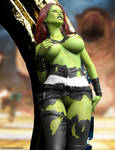 Gamora and the acid attack by adventuresinenf
