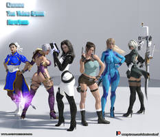 Choose the video game heroines - Models Lineup by adventuresinenf