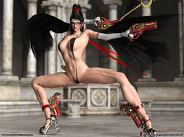 Bayonetta - String Bikini pose 2 by adventuresinenf