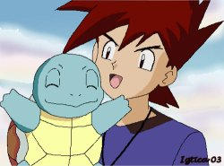 Gary Oak and Squirtle by igtica