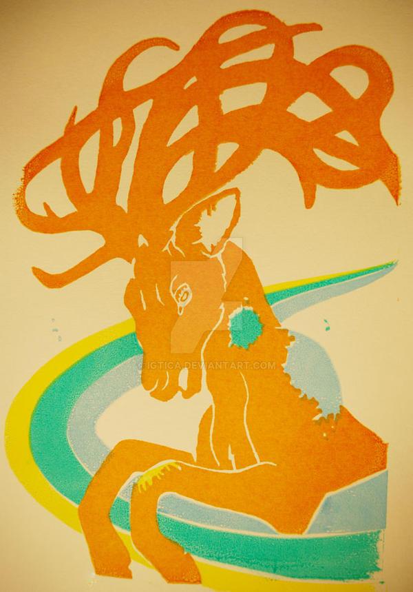 Deer Print by igtica