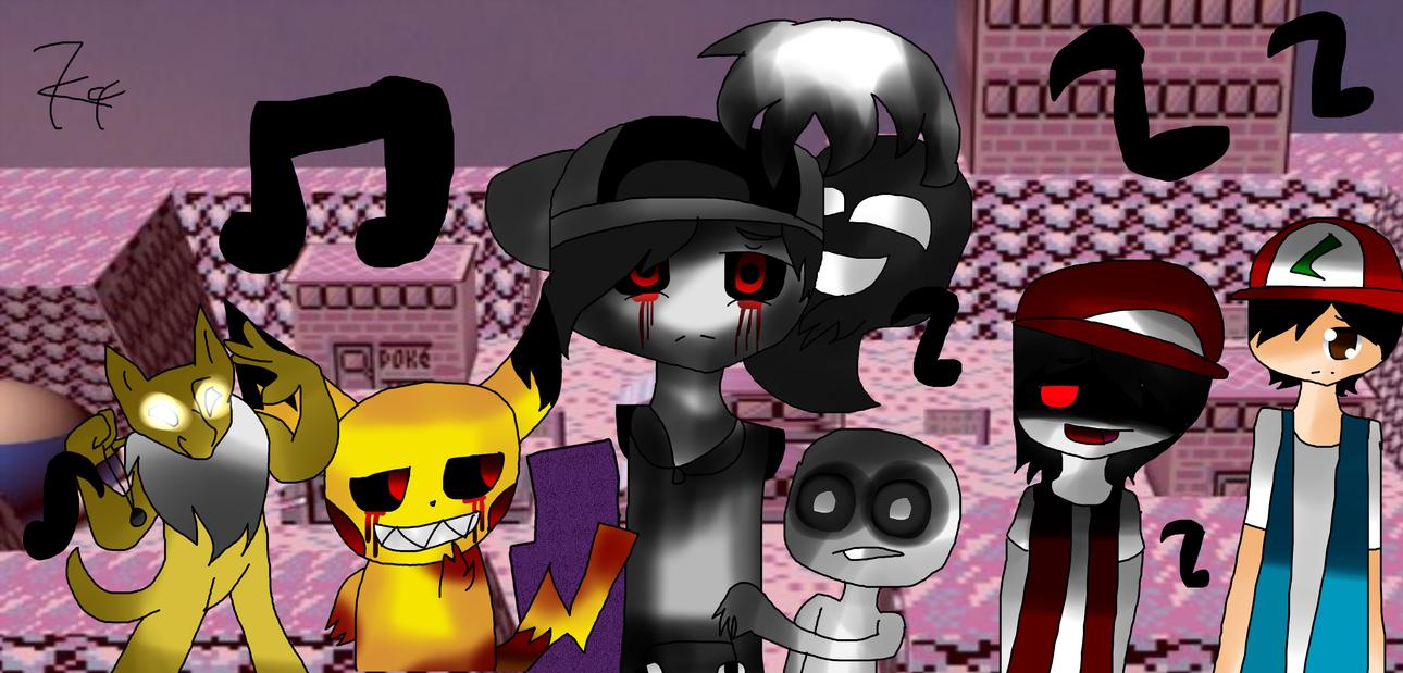 Pokepasta Battle Royale  Fan art by Kari4ever
