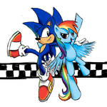 Sonic Rainboom (Without Background)