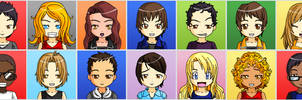 The Glee Project 2 Anime Faces