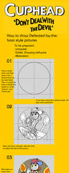 How to draw Defeated-dy-the-boss style pictures by Spray-POKA