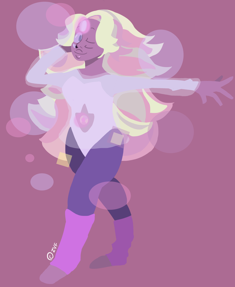 again with a lineless art practice with rainbow quartz... it sure took 3 ass hours drawing her.