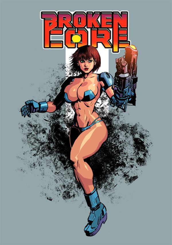 Broken core Tshirt illustration by OscarCelestini