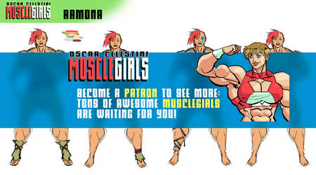 My new patreon page Musclegirls needs you! by OscarCelestini