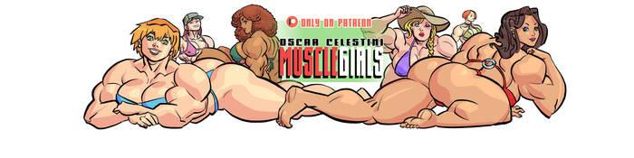 Musclegirls bikini party full color by OscarCelestini