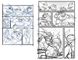 Ninja turtles Test page 1 storyboard to layout.
