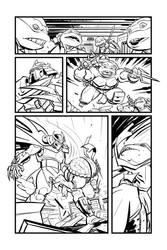Ninja turtles Test page 1 inked version