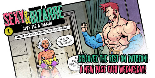 Sexy and bizarre, adult comic page 2 preview