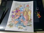 Leone Bianco Stay home watercolor
