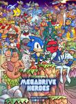 Megadrive Heroes artwork by OscarCelestini