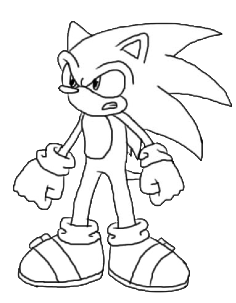 Sonic the hedgehog another colouring page by notredametp for Sonic the hedgehog and friends coloring pages