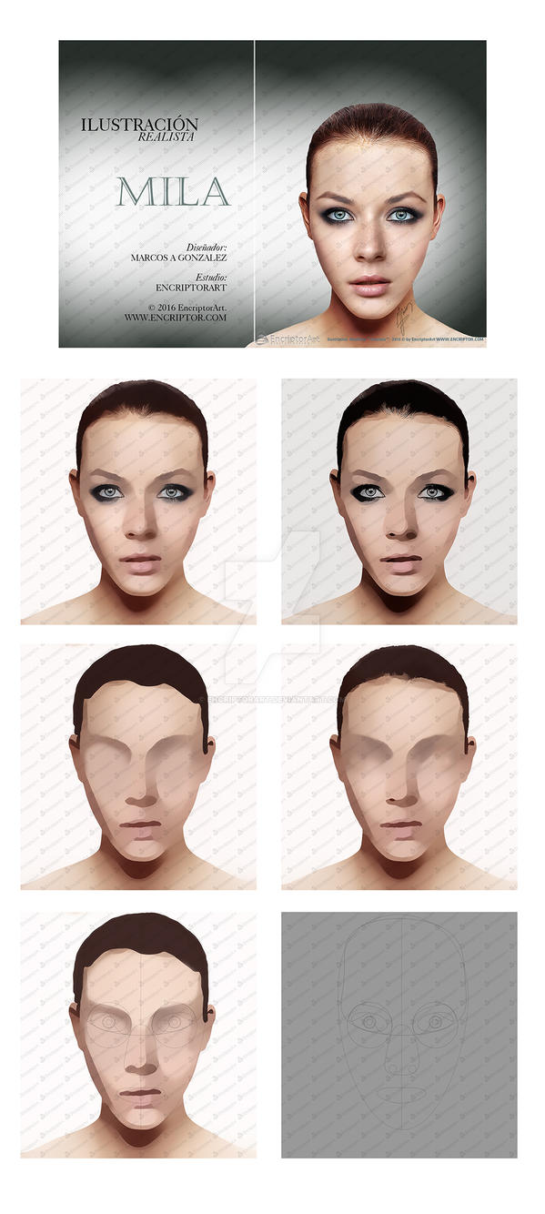 Mila. Hyper realistic Digital Painting