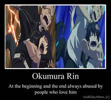 MotivationalPoster Okumura Rin by ValElfenMoon