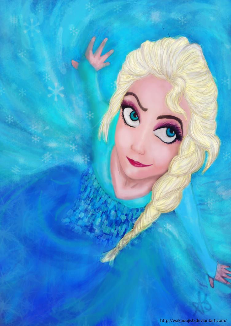 Elsa from Frozen let it go