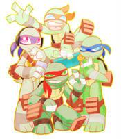 SUPER MINI PUZZLE TURTLES by s-bis