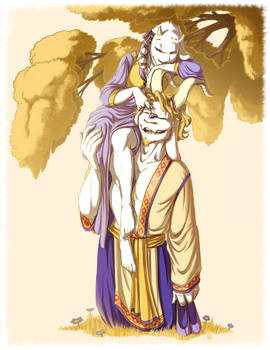 Toriel and Asgore In Their Youth