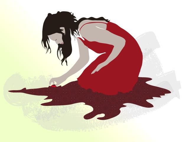 Girl kneeling by melemel