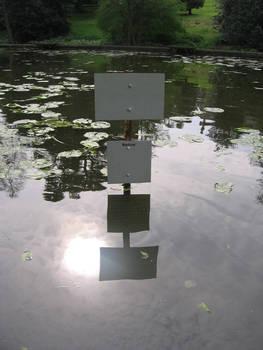 Blank lake sign